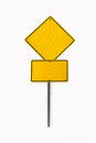 Blank road sign a yellow Royalty Free Stock Photo