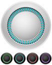 Blank round illumitated buttons Stock Photography