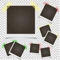 Blank set photo polaroid frame on transparent background Royalty Free Stock Photo