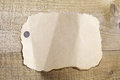Blank sheet of old torn paper Royalty Free Stock Photo