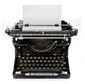 Blank sheet in a typewriter Royalty Free Stock Photo