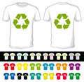 Blank shorts with recycling symbol Royalty Free Stock Photos