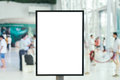Blank sign with copy space for your text message content in mall. Royalty Free Stock Photo