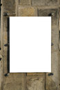 Blank sign over rock pannel background Stock Images