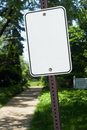 Blank sign at a park Stock Image