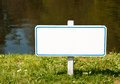 Blank sign with space for text Royalty Free Stock Photography