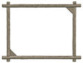 Blank Signboard Frame, Isolated Copy Space, Grey Wooden Texture Royalty Free Stock Photo