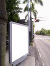 Blank signboard on roadside Stock Photo