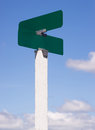 Blank Signs Crossroads Street Avenue Sign Blue Skies Clouds Royalty Free Stock Photo