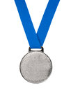 Blank silver Medal Royalty Free Stock Photo
