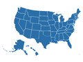 Blank Similar USA Map  On Whit...