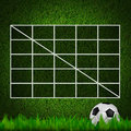 Blank Soccer ( 4x4 ) Table score Royalty Free Stock Images