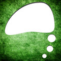 Blank speech bubble on grunge green background Stock Image