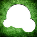 Blank speech bubble on grunge green background Stock Photography