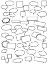 Blank speech bubbles Royalty Free Stock Photography