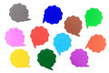 Blank speech bubbles ,Multi Colored Stock Images
