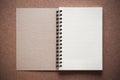 Blank spiral binder notebook Royalty Free Stock Photo
