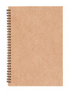Blank spiral notebook Royalty Free Stock Photo