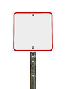 Blank Square White Red Traffic Sign Royalty Free Stock Photo