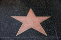 A blank star in hollywood walk of fame los angeles january on january los angeles ca there are more than five pointed stars Royalty Free Stock Image