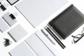 Blank stationery with clipping path  on white Royalty Free Stock Photo