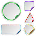 Blank stickers Stock Photography