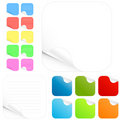 Blank stickers and paper pads in different colors Stock Images
