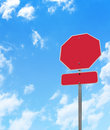Blank Stop Sign Royalty Free Stock Photos