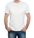 Blank t-shirt isolated on white Royalty Free Stock Photo