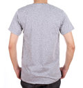 Blank t shirt on man back side gray isolated white background Stock Image