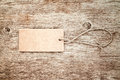Blank tag tied with string Royalty Free Stock Photo