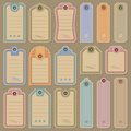 Blank tags set (vector) Royalty Free Stock Photos