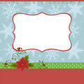 Blank template for Christmas greetings card Stock Photography