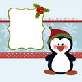 Blank template for Christmas greetings card Royalty Free Stock Images