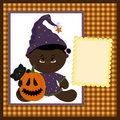 Blank template for halloween greetings card Royalty Free Stock Photography