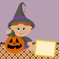 Blank template for halloween greetings card Royalty Free Stock Photos