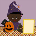 Blank template for halloween greetings card Royalty Free Stock Images
