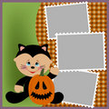 Blank template for Halloween photo frame Royalty Free Stock Images