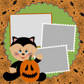 Blank template for Halloween photo frame Stock Image