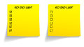 Blank ticked unticked to do list in yellow color Royalty Free Stock Photos