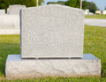 Blank Tombstone Royalty Free Stock Photo