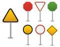 Blank Traffic sign Royalty Free Stock Image