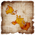 Blank treasure map Royalty Free Stock Photos