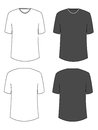 Blank tshirt hand drawn t shirts for logo design or colors easy to manipulate in photoshop Stock Images