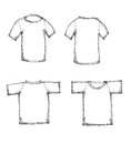 Blank tshirt hand drawn t shirts for logo design or colors easy to manipulate in photoshop Stock Photography