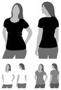 Blank tshirt this image is a vector illustration and can be scaled to any size without loss of resolution Stock Photos
