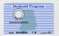 Blank USA Medicaid Card Stock Photography