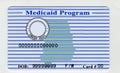 Blank USA Medicaid Card Royalty Free Stock Photo