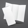 Blank vector white tri fold brochure template illustration Stock Photo
