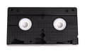 Blank vhs video cassette tape Royalty Free Stock Photo